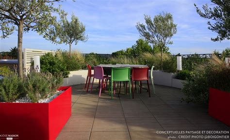 sauge en cuisine toit terrasse pop et contemporain en provence