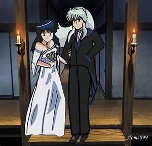 wedding kagome and inuyasha by makaomi on DeviantArt