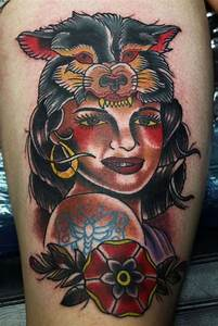 American traditional pin up girl tattoo design - Tattoos ...