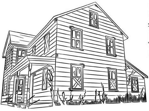 gambar rumah outline mewarnai gambar rumah gambar