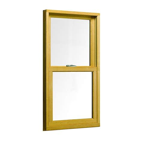 andersen       series double hung wood window white tw  home depot