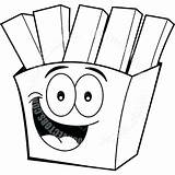 Fries Coloring French Pages Mcdonalds Cartoon Chips Clipart Steak Clip Bone Drawing Printable Getcolorings Paintingvalley sketch template