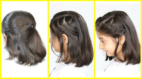 3 Simple & Cute Hairstyles (new) For Short/medium Hair