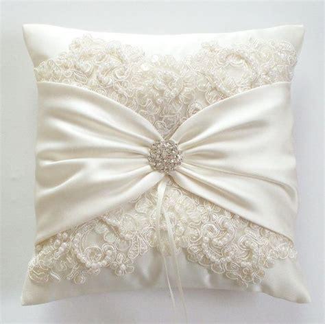 wedding pillow wedding cushion lace pillow ivory satin