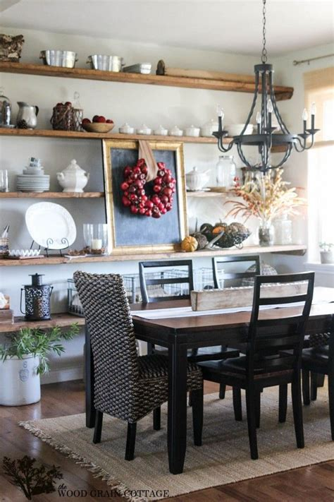 Ideas For Kitchen Dining Room by Fall Home Tour Part One Diy Ideas Dining Room Shelves