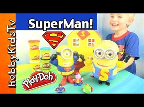 superman peppa pig and superman minion toy superhero peppa pig play doh