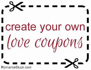 create your own custom love coupons for free with our With create a coupon template free