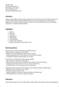 Veteran Resume by Professional Veterans Service Officer Templates To Showcase Your Talent Myperfectresume