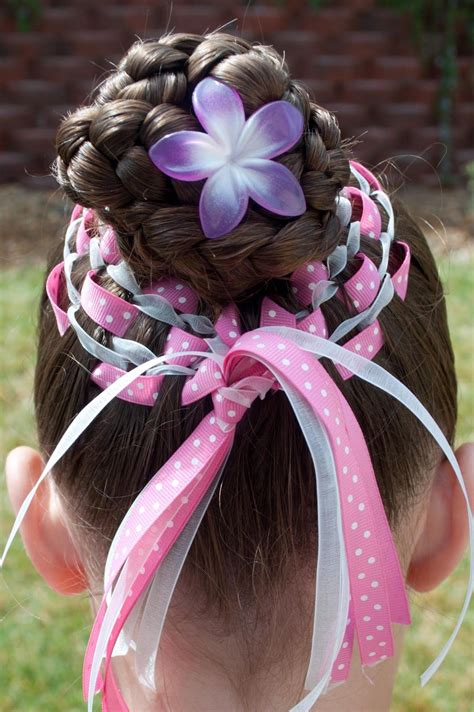 For those moms who aren't too keen on using extensions(affiliate link) on your little one, you can still try the style without the marley hair. Princess Piggies: Easter Basket Bun   Easter hairstyles, Kids hairstyles, Easter hair