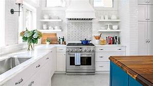 all time favorite white kitchens southern living With kitchen colors with white cabinets with flying swallows wall art