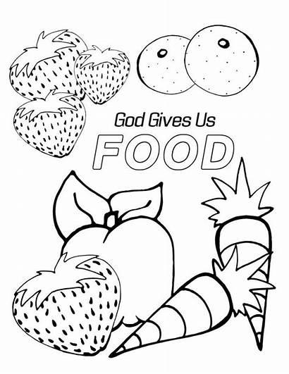 Coloring God Sunday Preschool Bible Printable Gave