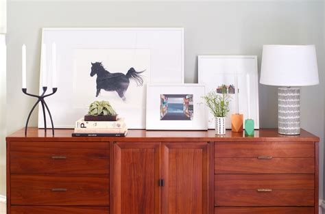 How To Decorate A Credenza by How To Style A Credenza Calm And Neutral Curbly