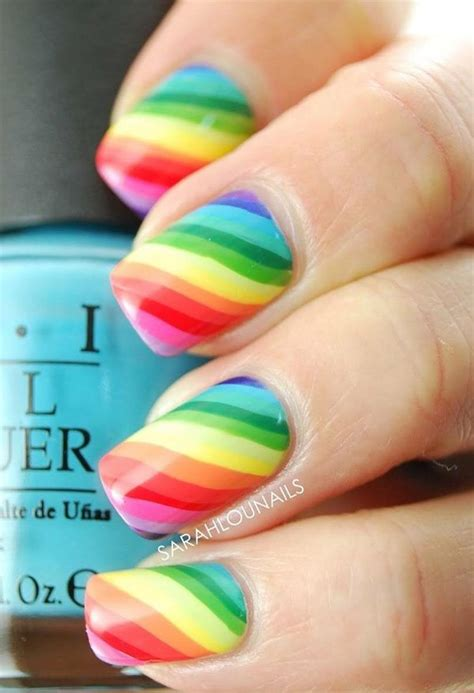 25+ Rainbow Nail Art Ideas That Are Perfect for Summer