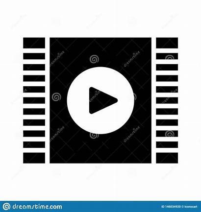 Filmstrip Icon Glyph Flat Mobile