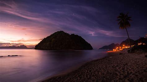 Sunsets El Nido Philippines Palawan Island Las Cabanas ...