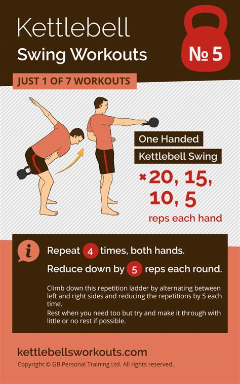 kettlebell swing workout workouts fat ladder minutes under exercise reps fitness