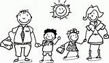 Coloring Pages Happy Children Printable Clipart Sheets Cartoon Families Wecoloringpage Colouring Preschool Stick Figure Clip Template Remodel Colorings Popular sketch template