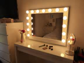 Vanity Mirror With Light Bulbs Around It by Hollywood Lighted Vanity Mirror Large Makeup Mirror With