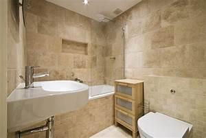 Finition Carrelage Mural Salle De Bain : carrelage salle de bain travertin ~ Dailycaller-alerts.com Idées de Décoration