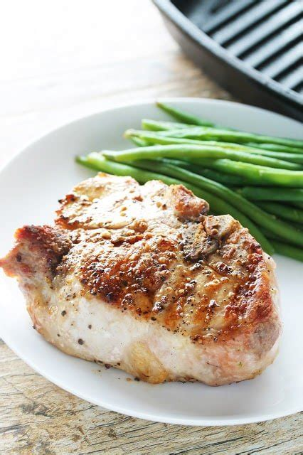 perfect thick cut pork chops