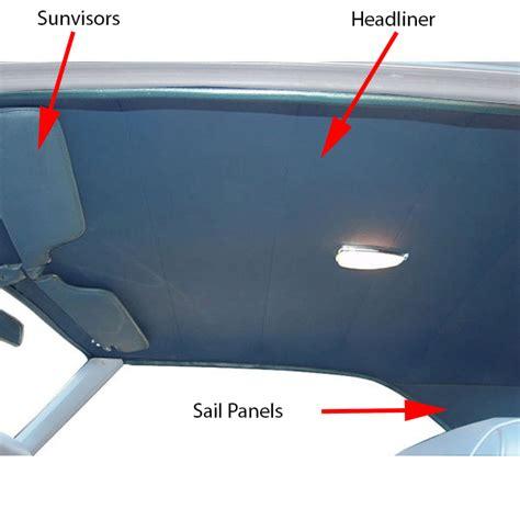 tmi  camaro headliner sunvisors sail panels kit