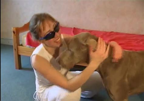 Girl With Glasses Teaches Big Dog How To Fuck Her Zoo Tube 1