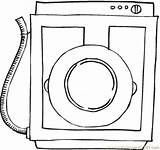 Washing Machine Coloring Appliances Pages Printable Coloringpages101 Pdf sketch template