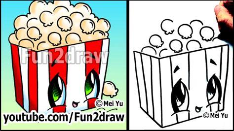 popcorn   draw toons easy cartoon art lesson