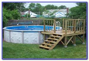 24 round above ground pool deck plans decks home