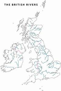 Outline Map Of Uk With Rivers