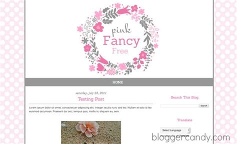 pink fancy  cute  blogger template