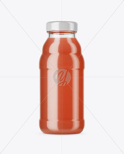 Just add your own custom design inside the smart object and you are done. Download Clear Glass Grapefruite Juice Bottle Mockup PSD