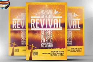 image gallery revival flyers With church revival flyer template free