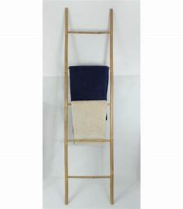 Porte Serviette En Bambou : porte serviettes echelle bambou 39 relax ~ Nature-et-papiers.com Idées de Décoration