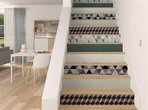 Deco Marche Escalier : d coration escalier et habillage d 39 escalier agencement d coration dijon ~ Teatrodelosmanantiales.com Idées de Décoration