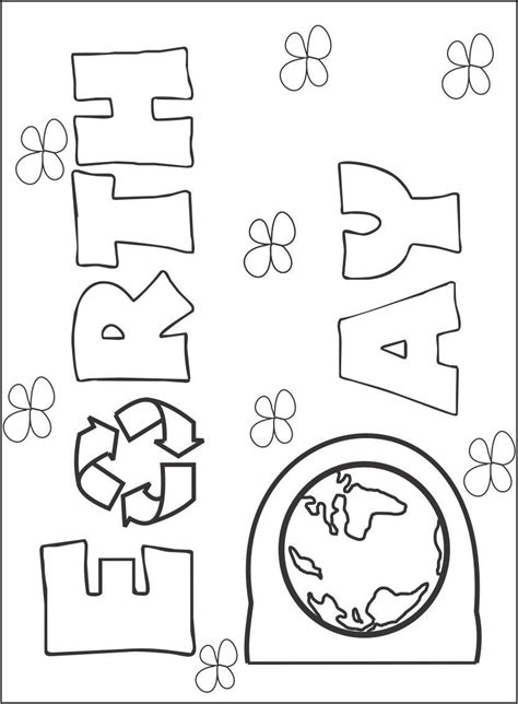 earth day printable coloring pages