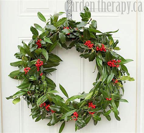 make christmas wreath a very merry holly wreath garden therapy