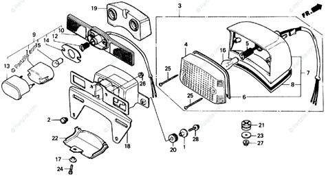 Honda Motorcycle Oem Parts Diagram For Taillight