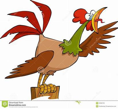 Cartoon Cock Royalty Vector Illustration