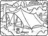 Tent Zelt Colouring Kleurplaat Kiddicolour Tente Kiddimalseite Bos Tekening Ausmalbilder Pferde Vakantie Ausmalen Paarden Woods Coloriage Tienda Drawing Natuur Kleurplaten sketch template