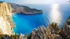 rocks, , sea, , zakynthos, , greece, , beaches, , gulf