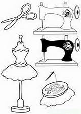 Patterns Hand Embroidery Sewing Machine Drawing Coloring Pages Stitch Cross Printables Designs Paper sketch template