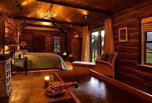 Luxuary Log Home Bedroom « The Log Builders
