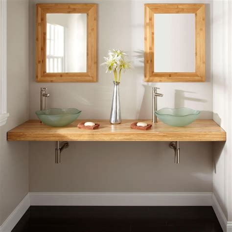diy custom floating bathroom vanity design  solid