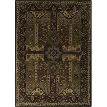 Teal And Brown Area Rugs by 8 X 11 Vitellius Teal Green And Brown Tufted