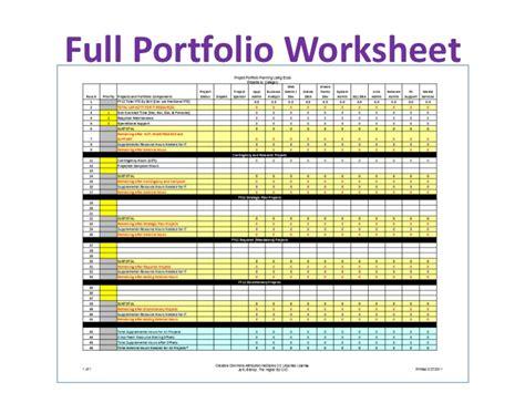 project portfolio planning  excel