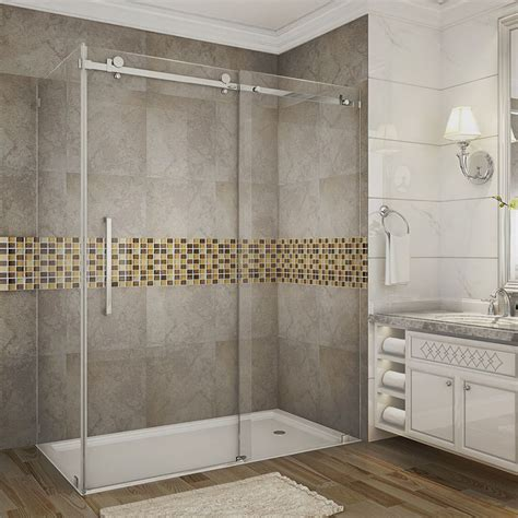 60 shower door aston moselle 60 inch x 35 inch x 75 inch frameless