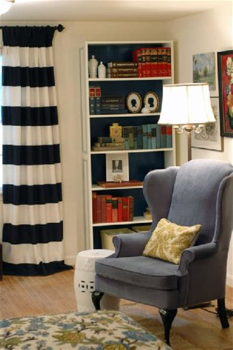 black and white horizontal striped curtains black and white curtains contemporary den library