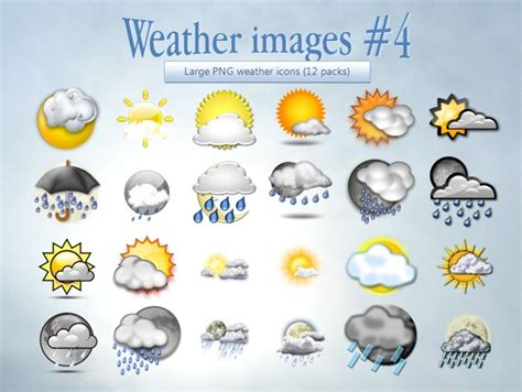 Weather Images 30 Sets Of High Quality Weather Icons For Free Tripwire