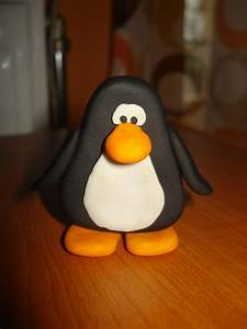 Fimo Club Penguin  Polymer Clay